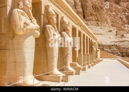 Egypt Temple in Luxor, Karnak, Edfu and Komombo - Stock Photo