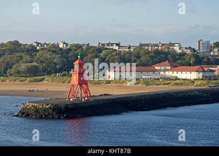 lighthouse, South Shields, Northumberland, England, Great Britain - Stock Photo
