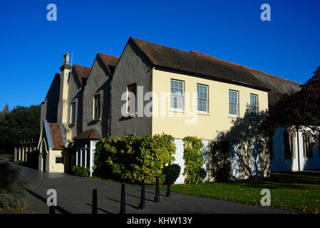 Prittlewell Priory in Priory Park Prittlewell Southend on Sea, Essex. Space for copy - Stock Photo