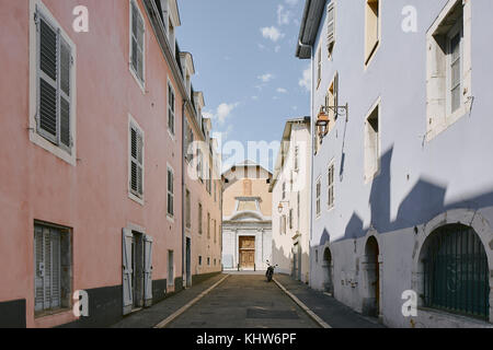 Traditional street with window shutters, Chambery, Rhone-Alpes, France - Stock Photo