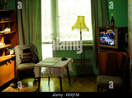 History of Poland. Upper Silesia. 20th century. Katowice. Interior of a typical house in the city, after its modernization. - Stock Photo
