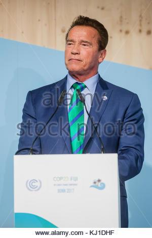 Bonn, DEU, 12.11.2017  Arnold Schwarzenegger spricht beim Climate Summit of Local and Regional Leaders im Rahmen - Stock Photo