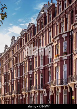 Traditional London houses and apartments, London, UK. - Stock Photo