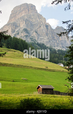 Landscape of Dolomites mountain in Sud Tyrol, Italy - Stock Photo