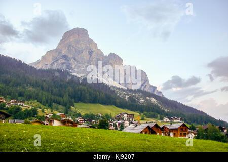 Landscape ofCorvara ,  Dolomites mountain in Sud Tyrol, Italy - Stock Photo