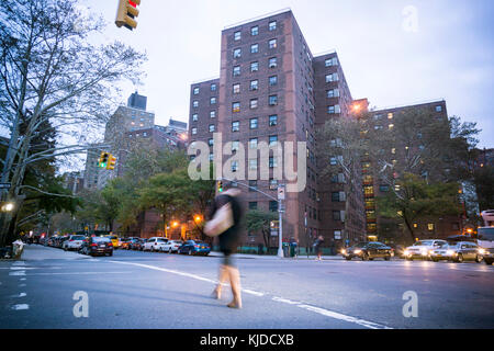 The massive NYCHA Elliot Houses complex of apartments in Chelsea in New York is seen on Wednesday, November 15, - Stock Photo