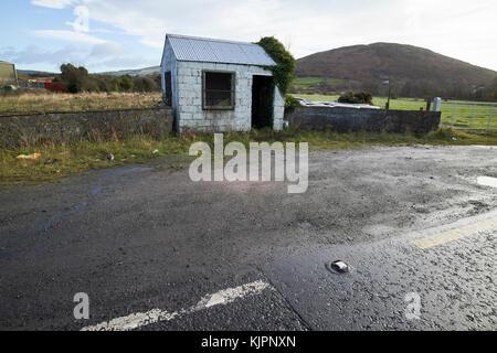 Disused old Irish Customs post on the irish border between Northern Ireland and Republic of Ireland soon to be the - Stock Photo