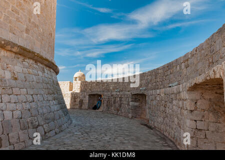 Minceta Tower in Dubrovnik - Stock Photo