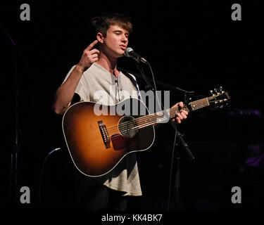 MIAMI BEACH, FL - DECEMBER 22: Alec Benjamin performs at the Fillmore on December 22, 2016 in Miami Beach, Florida. - Stock Photo