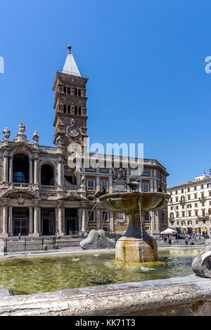 Basilica Di Santa Maria Maggiore Church in Rome, Italy, Europe - Stock Photo