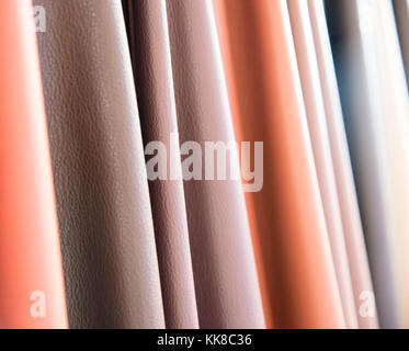 Color palette sample of leather material. - Stock Photo