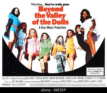 BEYOND THE VALLEY OF THE DOLLS 1970 Twentieth Century Fox film - Stock Photo