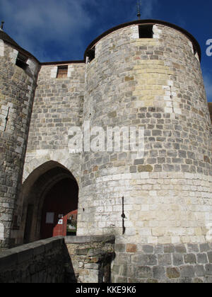 Castle of Dourdan, Essonne, Ile-de-France, France, Europe - Stock Photo