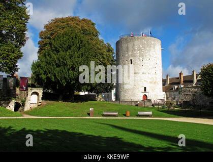 Dungeon of the Castle of Dourdan, Essonne, Ile-de-France, France, Europe - Stock Photo