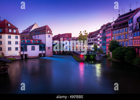 Stunning view of Strasbourg in France in Summer - Stock Photo