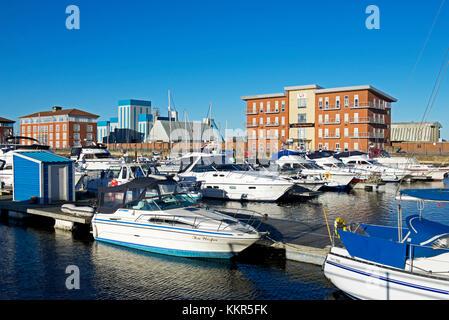 Hartlepool Marina, County Durham, England UK - Stock Photo