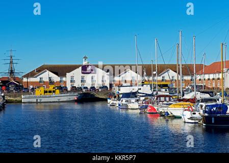 Premier Inn, Hartlepool Marina, County Durham, England UK - Stock Photo