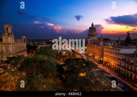 Sunset over Havana, Cuba - Stock Photo