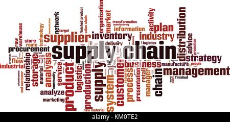 Supply chain word cloud concept. Vector illustration - Stock Photo
