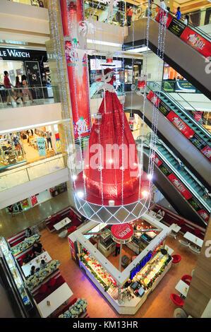 HO CHI MINH CITY, VIETNAM - SEP 10, 2014. Inside of the Vincom Shopping Mall in Saigon, Vietnam. - Stock Photo