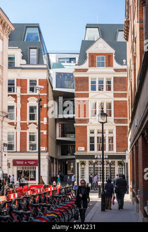 Re-development of 81 Chancery Lane with a new extension over Chichester Rents. City of London, UK - Stock Photo