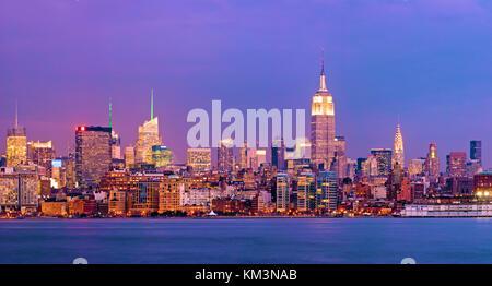New York City Skyline Empire State Building - Stock Photo
