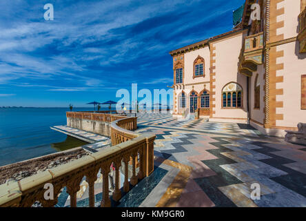 Cadzen the opulent mansion in the Mediterranean Revival style of John & Marble Ringling in Sarasota Florida - Stock Photo