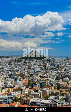 Mount Lycabettus in Athens, Greece - Stock Photo