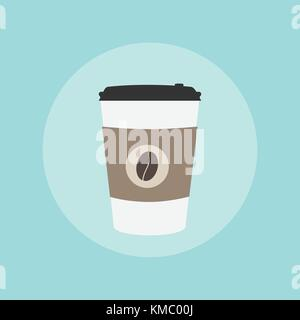 Paper Coffee Cup Take Away. Vector Illustration. - Stock Photo