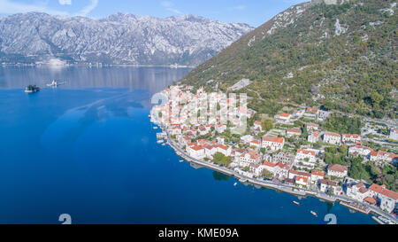 Perast Kotor Bay, Montenegro - Stock Photo