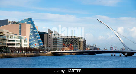 View towards Dublin Docklands, Ireland - Stock Photo