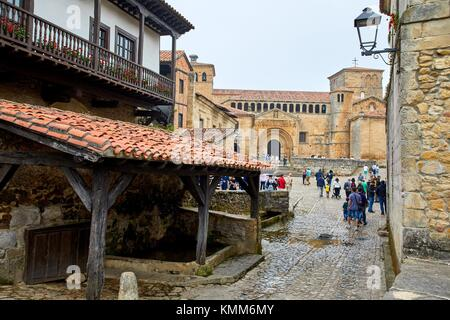 Santa Juliana collegiate church, Santillana del Mar, Cantabria, Spain, Europe - Stock Photo