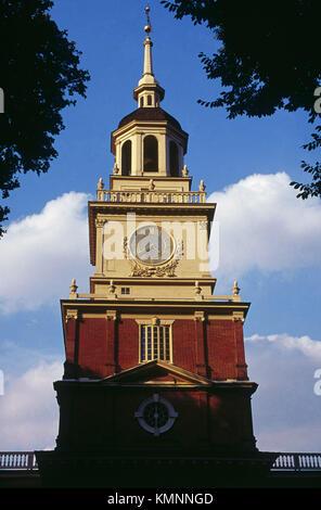 Independence Hall. Philadelphia. Pennsylvania, USA - Stock Photo