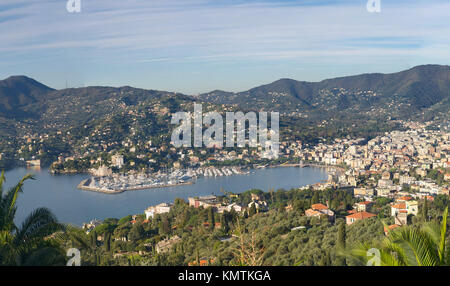 Rapallo view - Tigullio gulf - Ligurian sea - Liguria - Italy - Stock Photo
