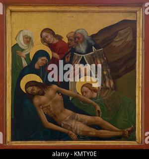 Fortified church of Prejmer 1250, The most ancient both sided painted sacral retable in the country, Jesus´ body - Stock Photo