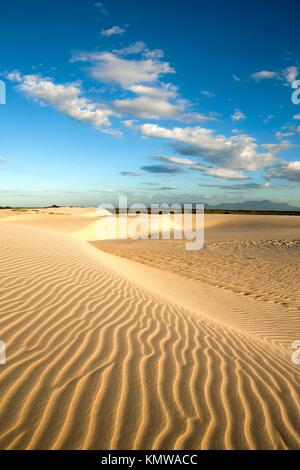 ripples of sand dune of cumbuco near fortaleza in ceara state brazil - Stock Photo