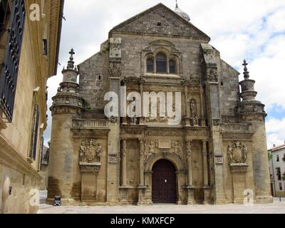 Church of the Salvador, Ubeda, Jaen province, Andalusia, Spain - Stock Photo