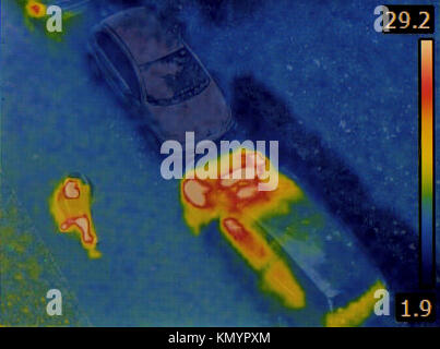 Surveillance with Thermovision Infra Red Camera - Stock Photo
