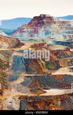 copper mine, Minas de Riotinto, Andalusia, Spain - Stock Photo