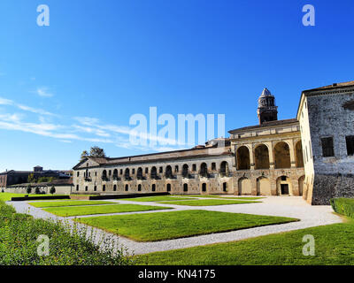Mantova Palazzo Ducale - famous palace in Mantua, Lombardy, Italy. - Stock Photo
