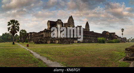 Angkor Wat in Cambodia is the largest religious monument in the world and a World heritage listed complex - Stock Photo