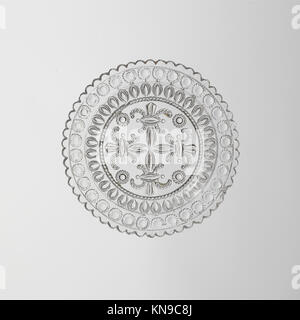Cup Plate MET DP236547 2959 Maker: Fort Pitt Glass Works, Cup Plate, 1825?60, Lacy pressed glass, Dimensions unavailable. - Stock Photo