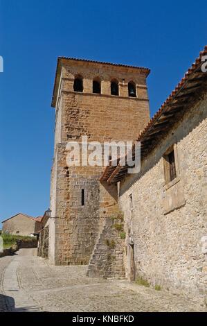 Colegiate de Santa Juliana, Santillana del Mar, Cantabria, Spain. - Stock Photo