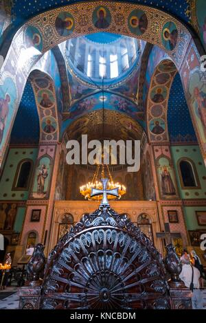 Interior view of Sioni Cathedral, Tbilisi City, Georgia, Middle East. - Stock Photo