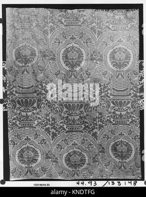 Piece. Date: 17th century; Culture: Spanish; Medium: Silk; Dimensions: L. 79 x W. 60 inches (200.7 x 152.4 cm); - Stock Photo