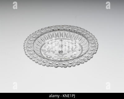Cup Plate MET DP236548 2959 Maker: Fort Pitt Glass Works, Cup Plate, 1825?60, Lacy pressed glass, Dimensions unavailable. - Stock Photo