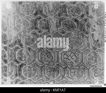 Piece. Date: 16th-17th century; Culture: Italian; Medium: Silk; Dimensions: L. 9 1/8 x W. 6 1/2 inches; Classification: - Stock Photo