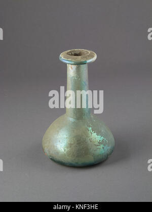 Glass perfume bottle. Period: Mid Imperial; Date: 2nd century A.D; Culture: Roman; Medium: Glass; blown; Dimensions: - Stock Photo