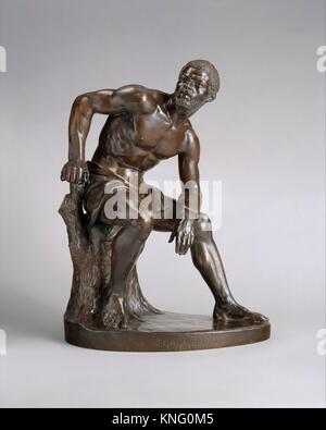 The Freedman. Artist: John Quincy Adams Ward (American, Urbana, Ohio 1830-1910 New York); Date: 1863, cast 1891; - Stock Photo