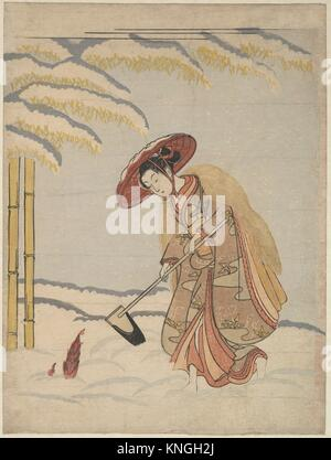 Meng Zong, from the series Twenty-four Paragons of Filial Piety. Artist: Suzuki Harunobu (Japanese, 1725-1770); - Stock Photo